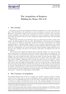 The Acquisition of Empires: Bidding for Rome 193 A.D.