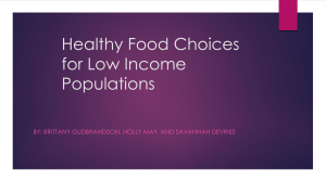 Healthy Food Choices for Low Income Populations - RN