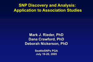 SNP Discovery and Genotyping Workshop (PowerPoint)