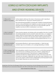 using ils with cochlear implants and other hearing devices