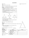 Geometry Fall 2014 Lesson 024 _Base Angles of an Isosceles