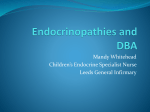 Endocrinopathies and DBA - Diamond Blackfan Anaemia