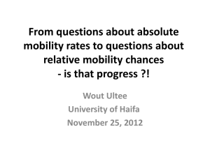 From questions about absolute mobility rates to questions about
