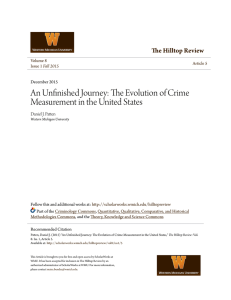 An Unfinished Journey: The Evolution of Crime Measurement in the