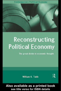 Reconstructing Political Economy: The great divide in