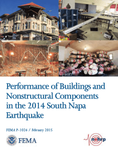 Performance of Buildings and Nonstructural Components in the