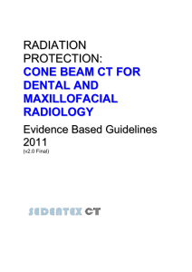 cone beam ct for dental and maxillofacial radiology