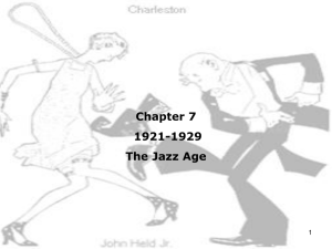 Chapter 7: The Jazz Age