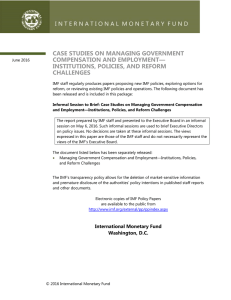 Case Studies on Managing Government Compensation and