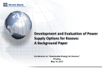 Development and Evaluation of Power Supply Options for Kosovo
