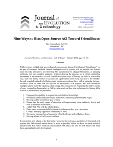 Nine Ways to Bias Open-Source AGI Toward Friendliness