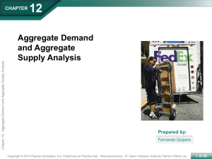 Aggregate Demand Aggregate demand