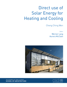 Direct use of Solar Energy for Heating and Cooling - UTSOA