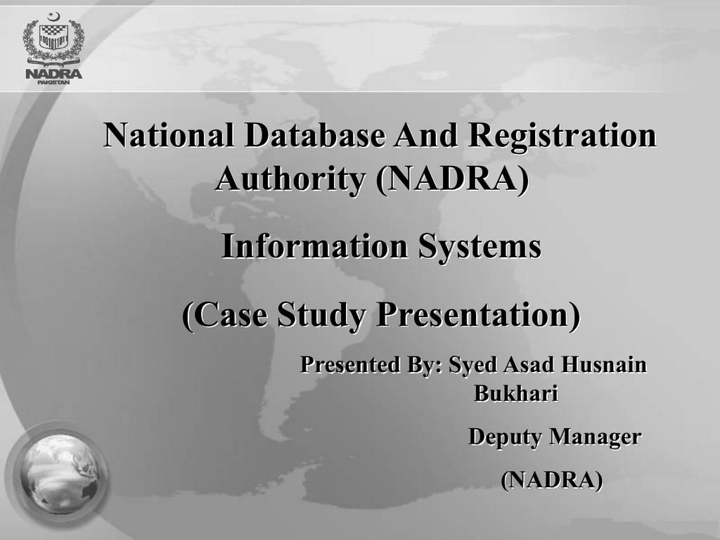 NADRA Swift Registration System