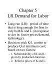 Chapter 5 LR Demand for Labor
