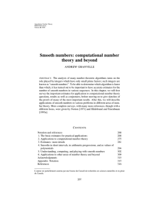 Smooth numbers: computational number theory and beyond