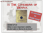 What was the goal of the Congress of Vienna?