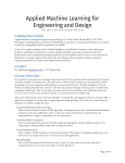 Applied Machine Learning for Engineering and Design