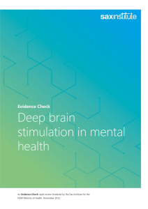 Deep brain stimulation in mental health