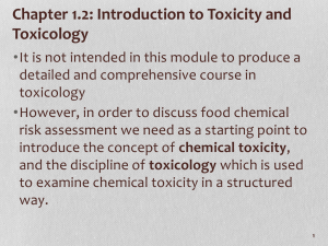 1_02 Toxicity and Toxicology