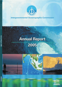 Annual report 2005 (of the Intergovernmental Oceanographic