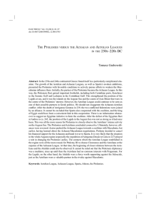 the ptolemies versus the achaean and aetolian leagues in the 250s