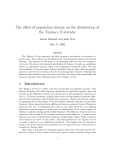 The effect of population history on the distribution of the Tajima`s D