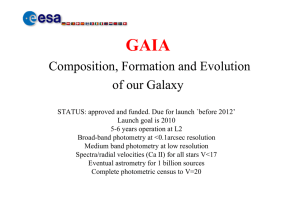 GAIA Composition, Formation and Evolution of our Galaxy