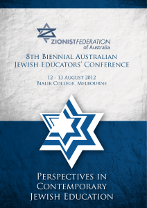 Perspectives in Contemporary Jewish Education
