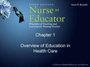 Learning - Nursing 110 Introduction to Professional Nursing Roles