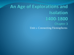 An Age of Explorations and Isolation ch 3 unit 1