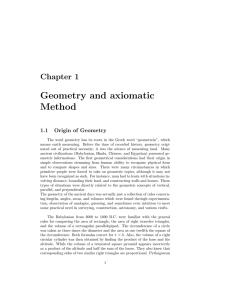 Geometry and axiomatic Method