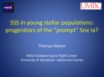 SSS in young stellar populations: progenitors of the