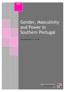 Gender, Masculinity and Power in Southern Portugal