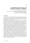 Localization Error: Accuracy and Precision of Auditory Localization