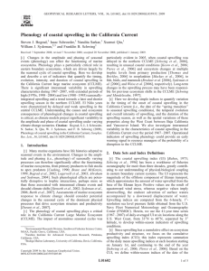 Phenology of coastal upwelling in the California Current