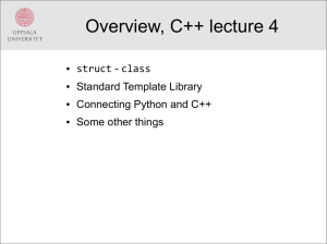 The C++ language, STL