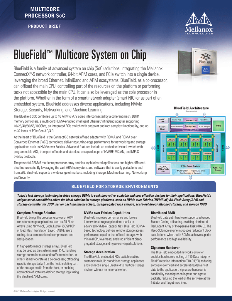 BlueField™ Multicore System on Chip