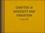 CHAPTER 18 DIVERSITY AND VARIATION