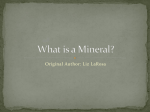 What is a mineral - group items
