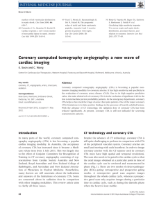 Coronary computed tomography angiography: a new wave of