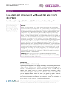 EEG changes associated with autistic spectrum disorders