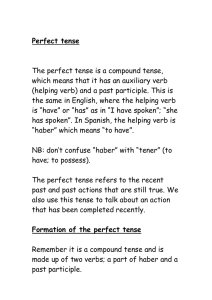 Perfect tense - Aquinas Spanish Wiki