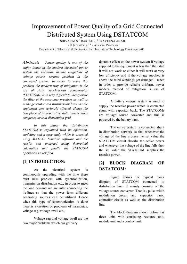 [2] block diagram of dstatcom