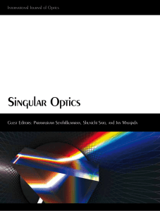 `Singular Optics`, International Journal of Optics, Vol.2012