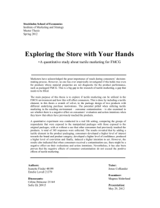 Exploring the Store with Your Hands