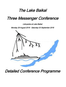 The Lake Baikal Three Messenger Conference
