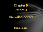 Chapter 8 Lesson 3 The Solar System