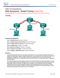 Skills Assessment – Student Training (Answer Key)