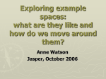 Exploring example spaces 2006